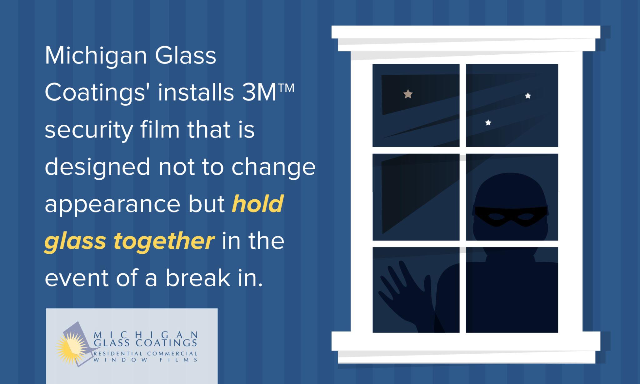 Security Window Film to prevent break-ins