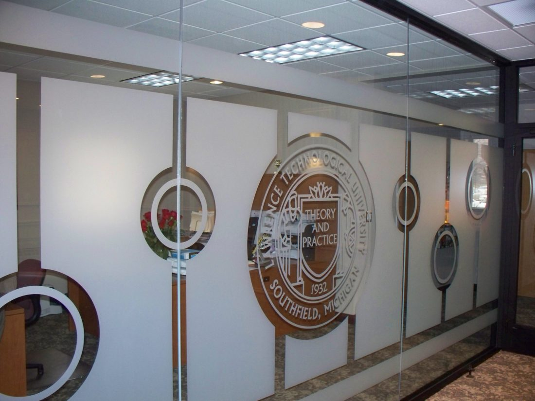 Lawrence Technological University Uses Decorative Glass Film on Campus