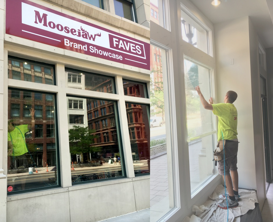 Security Window Film Adds Protection to Moosejaw in Downtown Detroit