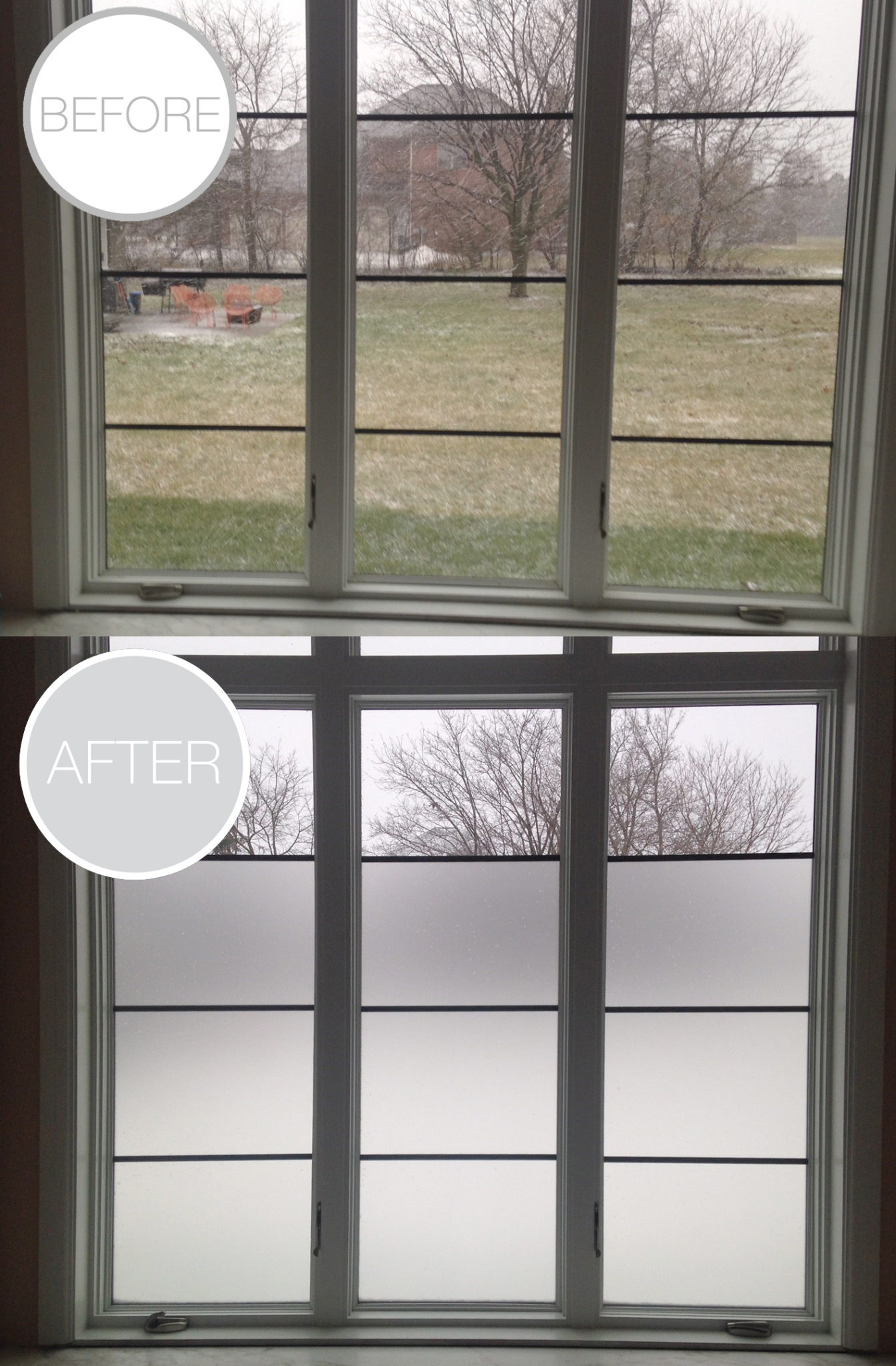 Frosted Window Film Adds Needed Privacy to Troy, Michigan Bathroom